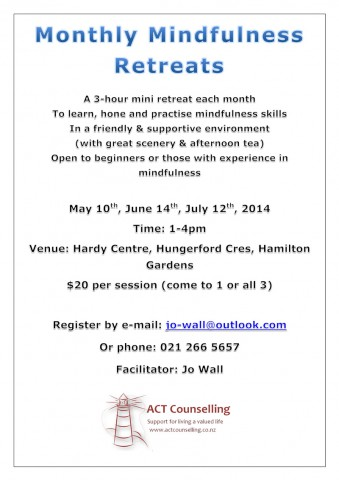 Mindfulness retreat flier May14