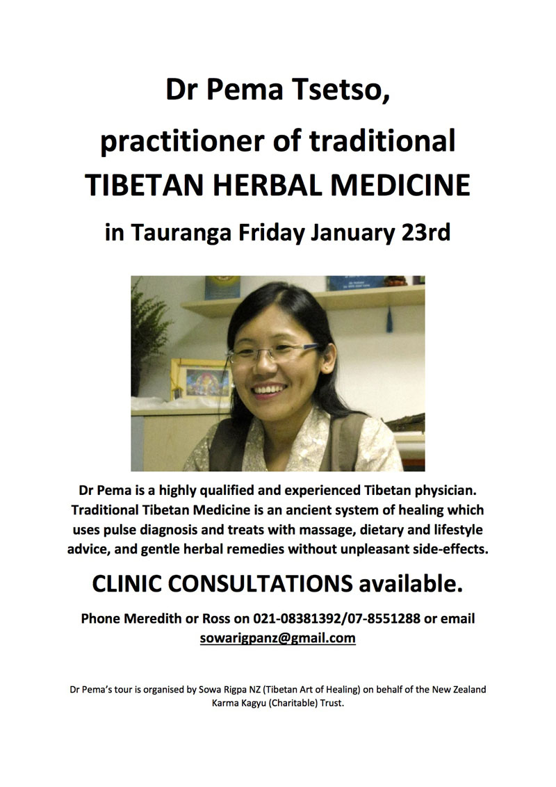 Dr Pema Tauranga poster
