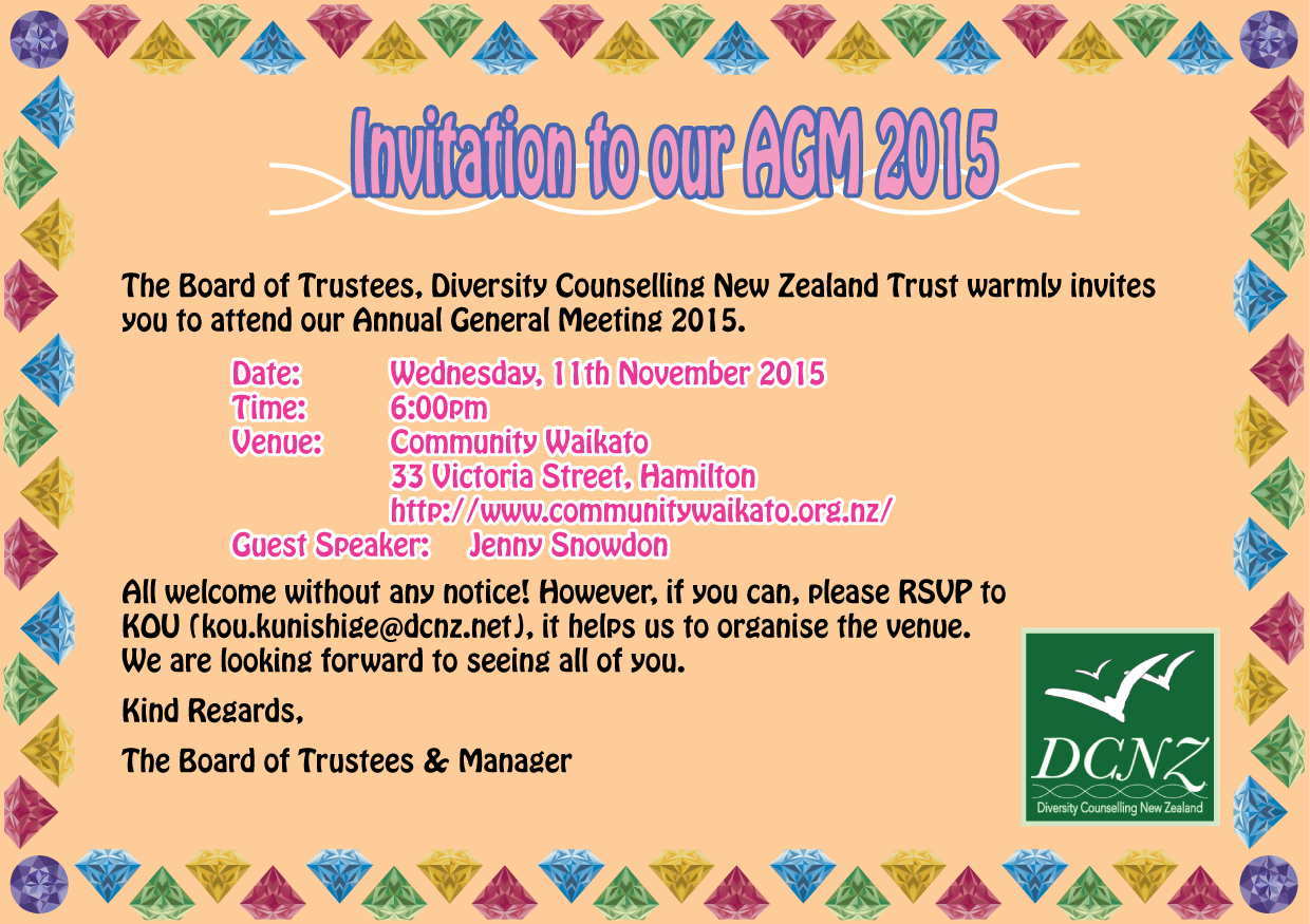 AGM Invitation Card on 11Nov2015