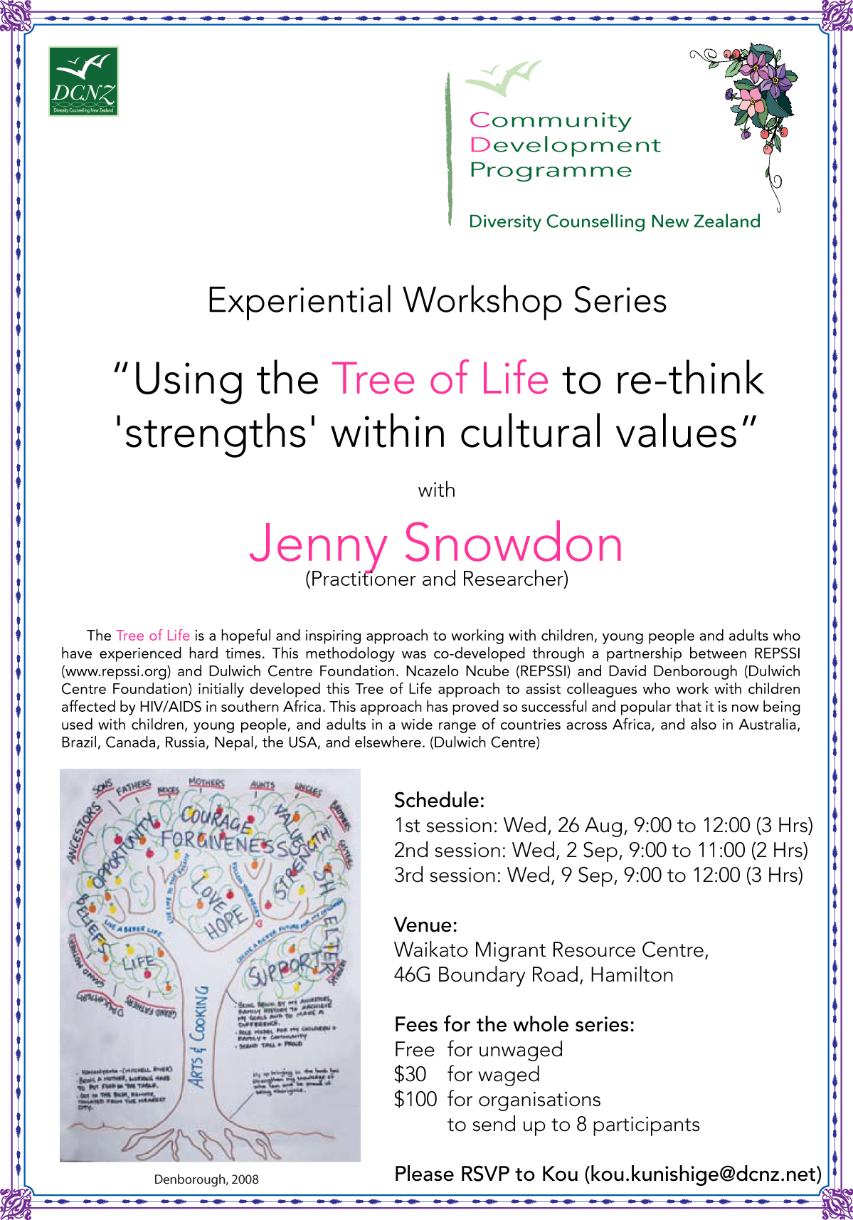 "Experiential Workshop Series – ""Tree of Life"""