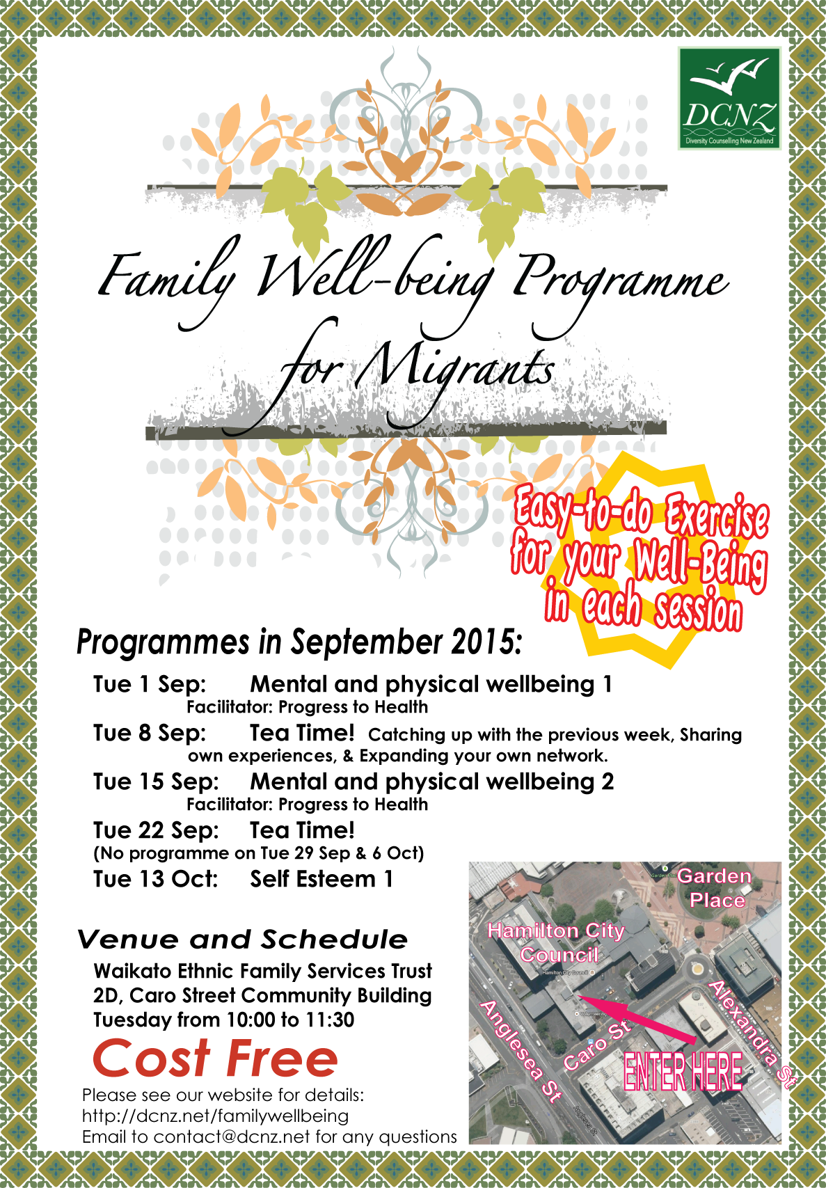 Family Well-Being Programme in September