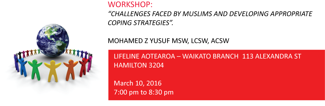 Workshop: Challenges Faced By Muslims And Developing Appropriate Coping Strategies