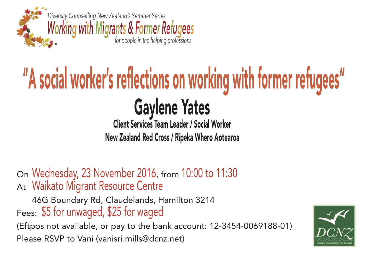 Seminar: Working with Former Refugees