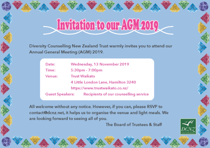 Our AGM 2019 on 13 November 2019