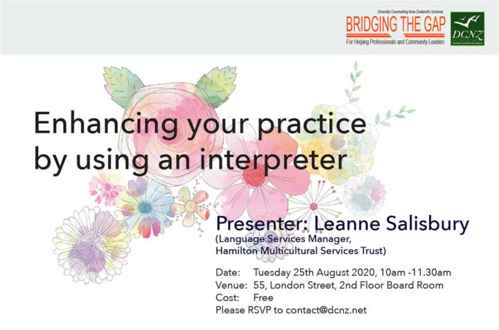 BRIDGING THE GAP Seminar: Enhancing your practice by using an interpreter