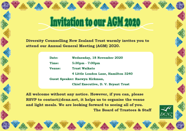 Invitation to our AGM 2020