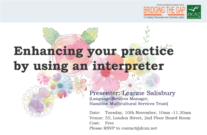 BRIDGING THE GAP Seminar: Enhancing your practice by using an interpreter
